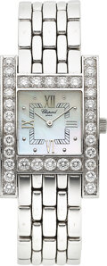 "Timepieces:Wristwatch, Chopard, ""Your Hour"" Lady's White Gold & Diamond Wristwatch. ..."