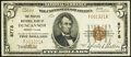 National Bank Notes:Pennsylvania, Duncannon, PA - $5 1929 Ty. 1 The Peoples National Bank Ch. # 8778 Very Fine.. ...