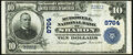 National Bank Notes:Pennsylvania, Sharon, PA - $10 1902 Plain Back Fr. 626 The McDowell National Bank Ch. # 8764 Extremely Fine.. ...