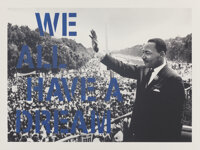 Mr. Brainwash (b. 1966) We All Have A Dream (Blue), 2017 Screenprint with hand finishing in colors o