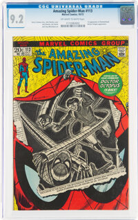The Amazing Spider-Man #113 (Marvel, 1972) CGC NM- 9.2 Off-white to white pages