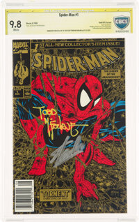 Spider-Man #1 Gold Edition UPC Variant - Authentic Signature: Stan Lee and Todd McFarlane (Marvel, 1990) CBCS NM/MT 9.8...