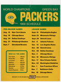 Football Collectibles:Others, 1968 Green Bay Packers Schedule Broadside. ...