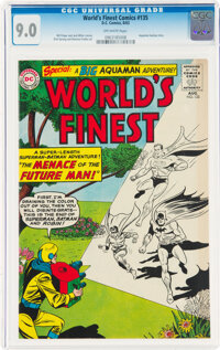 World's Finest Comics #135 (DC, 1963) CGC VF/NM 9.0 Off-white pages
