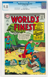 World's Finest Comics #157 Twin Cities Pedigree (DC, 1966) CGC NM/MT 9.8 White pages