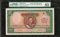 Afghanistan Bank of Afghanistan 1000 Afghanis ND (1939) / ND (SH1318) Pick 27Acts Color Trial Specimen PMG Choice Uncirc...