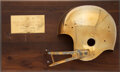 Football Collectibles:Others, 1967 Golden Helmet Pro Bowl Award Presented to Gale Sayers....