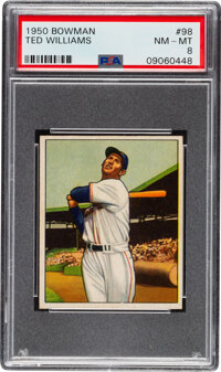 1950 Bowman Ted Williams #98 PSA NM-MT 8