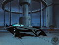 Animation Art:Production Cel, The New Batman Adventures Batmobile Production Cel with Master Background (Warner Brothers, c. 1997-99)....