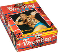 1985 Topps WWF Pro Wrestling Stars Wax Box With 36 Unopened Packs