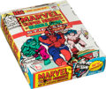 Non-Sport Cards:Unopened Packs/Display Boxes, 1976 Topps Marvel Super Heroes Stickers Wax Box with 36 Unopened Packs. ...