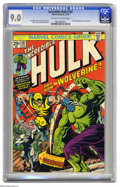 Bronze Age (1970-1979):Superhero, The Incredible Hulk #181 (Marvel, 1974) CGC VF/NM 9.0 Off-white towhite pages. Issues featuring first appearances of popula...