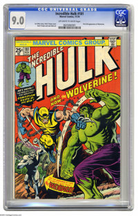 The Incredible Hulk #181 (Marvel, 1974) CGC VF/NM 9.0 Off-white to white pages. Issues featuring first appearances of po...