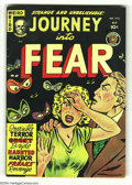 Golden Age (1938-1955):Horror, Journey Into Fear #4 Bethlehem pedigree (Superior, 1951) Condition:VF. Eerie cover depicts disembodied eyes staring down a ...