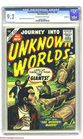Golden Age (1938-1955):Horror, Journey Into Unknown Worlds #36 Bethlehem pedigree (Atlas, 1955)CGC NM- 9.2 Off-white to white pages. Manny Stallman and Pa...