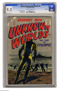 Silver Age (1956-1969):Horror, Journey Into Unknown Worlds #50 Bethlehem pedigree (Atlas, 1956)CGC NM- 9.2 Off-white to white pages. Bill Everett's cover ...