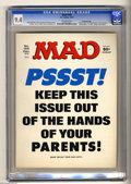 "Magazines:Mad, Mad #195 Gaines File pedigree (EC, 1977) CGC NM 9.4 Off-whitepages. ""Airport 1977"" and ""Black Sunday"" movie parodies . ""Bar..."