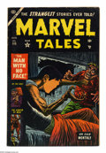 Golden Age (1938-1955):Horror, Marvel Tales #115 (Atlas, 1953) Condition: VG/FN. Dick Ayers art.Small tear through book at the top. Overstreet 2004 VG 4.0...