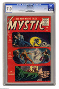 Silver Age (1956-1969):Horror, Mystic #46 Bethlehem pedigree (Atlas, 1956) CGC FN/VF 7.0 Off-whiteto white pages. Mort Drucker, Jim Mooney, and Don Heck a...