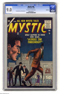 Silver Age (1956-1969):Horror, Mystic #48 Bethlehem pedigree (Atlas, 1956) CGC VF/NM 9.0 Off-whiteto white pages. As of this writing, only one copy of thi...