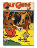 Golden Age (1938-1955):Funny Animal, Our Gang #8 (Dell, 1943) Condition: VG. Carl Barks takes over theBenny Burro feature with this issue. Overstreet 2004 VG 4....