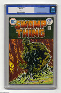 Bronze Age (1970-1979):Horror, Swamp Thing #9 (DC, 1974) CGC NM+ 9.6 White pages. Bernie Wrightsoncover and art. Overstreet 2004 NM- 9.2 value = $45....