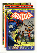 Bronze Age (1970-1979):Horror, Tomb of Dracula Group (Marvel, 1972-74) Condition: Average VG.Offered are six early issues of Tomb of Dracula, a grueso...(Total: 6 Comic Books Item)