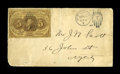 Fractional Currency:First Issue, Fr. 1230 Used As Postage....