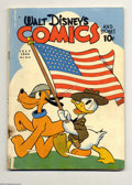 Golden Age (1938-1955):Funny Animal, Walt Disney's Comics and Stories #22 (Dell, 1942) Condition: FR.Donald Duck and Pluto with American flag cover. One page ha...