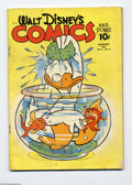 Golden Age (1938-1955):Funny Animal, Walt Disney's Comics and Stories #23 (Dell, 1942) Condition: GD/VG.Comic has water spots. Overstreet 2004 GD 2.0 value = $4...
