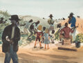 Animation Art:Concept Art, Mary Blair Song of the South Concept/Color Key Painting (Walt Disney, 1946)....
