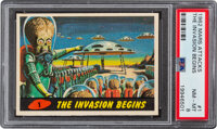 """1962 Mars Attacks """"The Invasion Begins"""" #1 PSA NM-MT 8 - Only One Higher"""