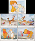 """Movie Posters:Animation, Winnie the Pooh and Tigger Too! (Buena Vista, 1974). Overall: Very Fine+. Mini Lobby Card Set of 5 (8"""" X 10"""") With Original ... (Total: 6 Items)"""