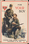 """Movie Posters:War, World War I Propaganda (Committee on Public Information, 1918). Rolled, Fine. United War Work Campaign Poster (20"""" X 30"""") """"F..."""