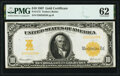 Fr. 1172 $10 1907 Gold Certificate PMG Uncirculated 62