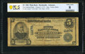 National Bank Notes:Arkansas, Dardanelle, AR - $5 1902 Plain Back Fr. 606 The First National Bank Ch. # 11276 PCGS Banknote Very Good 8 Details.. ...