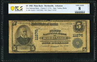 Dardanelle, AR - $5 1902 Plain Back Fr. 606 The First National Bank Ch. # 11276 PCGS Banknote Very Good
