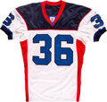 Football Collectibles:Uniforms, 2002 Lawyer Milloy Game Worn & Signed Buffalo Bills Jersey with Equipment Manager Provenance....