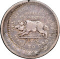 Hard Times Tokens, (1835) Taunton, Massachusetts, John J. Adams, Low-301A, HT-181B, W-MA-320-10j, R.9, VF30 NGC. Silver, Lettered edge. This pi...