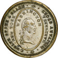 (1829-30) New York, New York, C. Wolfe, Spies & Clark, R. E-NY-962A, R.7, MS61 NGC. Silvered brass, reeded edge. The...