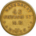 Early American Tokens, Undated New Haven, Connecticut, Waterbury House, R. E-CONN-27, R.7, MS62 NGC. Brass, plain edge. There was considerable cont...