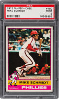 Baseball Cards:Singles (1970-Now), 1976 O-Pee-Chee Mike Schmidt #480 PSA Mint 9 - Pop One, None Higher! ...