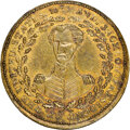 1833 Andrew Jackson, Low-5B, HT-8, W-09-45b RE, R.6, MS62 NGC. Brass, reeded edge. There is a numbering question regardi...