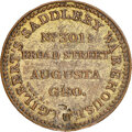 Early American Tokens, (1829-33) Augusta, Georgia, I. Gilbert, Low-315, HT-110, R. E-GA-1, R.7--Reverse Damage--NGC Details. AU. Brass, plain edge....