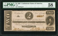 Confederate Notes:1862 Issues, T54 $2 1862 PMG Choice About Unc 58.. ...