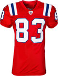 Football Collectibles:Uniforms, 2010 Wes Welker Game Worn New England Patriots Throwback Jersey....