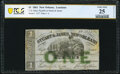 Obsoletes By State:Louisiana, New Orleans, LA- T. D. Hine, Payable at Stuart & James $1 Nov. 1, 1861 PCGS Banknote Very Fine 25 Details.. ...