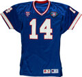 Football Collectibles:Uniforms, 1994 Frank Reich Game Worn Buffalo Bills Jersey with Equipment Manager Provenance....