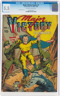 Golden Age (1938-1955):Superhero, Major Victory Comics #1 (Harry 'A' Chesler, 1944) CGC FN- 5.5 Off-white to white pages....