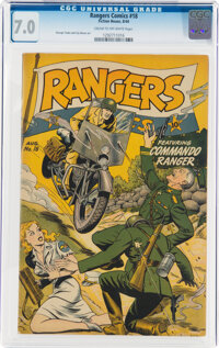 Rangers Comics #18 (Fiction House, 1944) CGC FN/VF 7.0 Cream to off-white pages